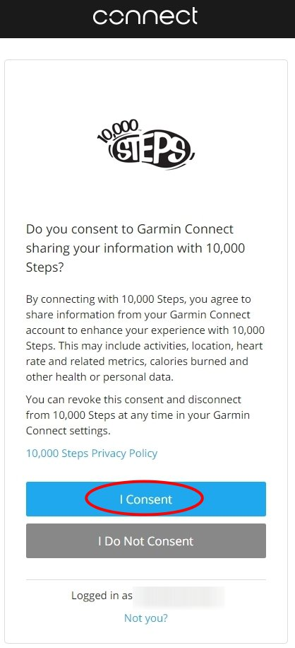 Connecting with Garmin 4