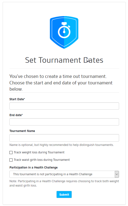 Time Out Tournament Details