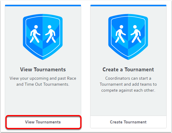Accessing upcoming tournament